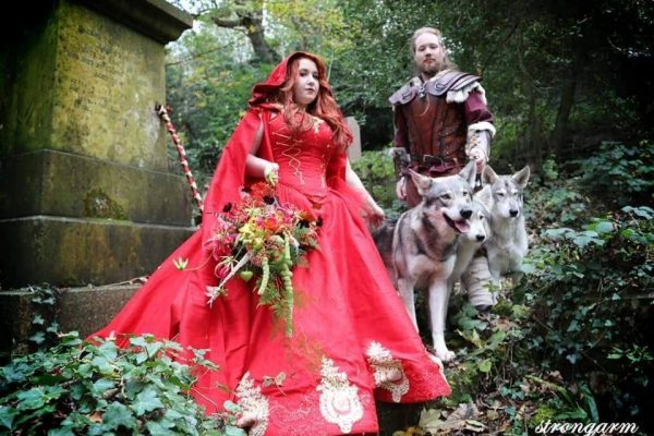 Wedding Wolves at a Fantasy Themed Wedding